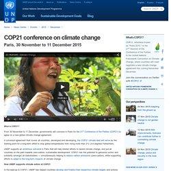 30 November-11 December: COP21 climate conference