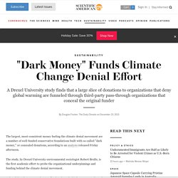 """Dark Money"" Funds Climate Change Denial Effort"