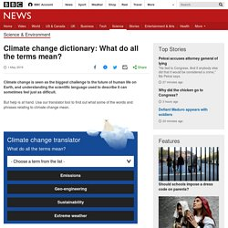 Climate change dictionary: What do all the terms mean?