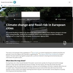 Climate change and flood risk in European cities