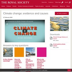 Climate change: evidence and causes