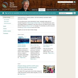 David Suzuki Foundation: Climate Change