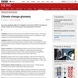 Climate change glossary