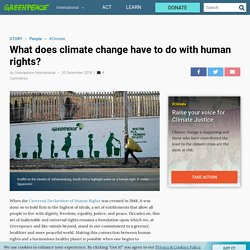 What does climate change have to do with human rights?