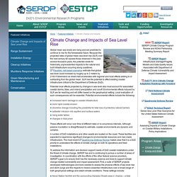 Climate Change and Impacts of Sea Level Rise