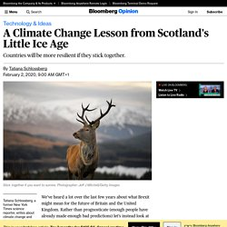 A Climate Change Lesson from Scotland's Little Ice Age