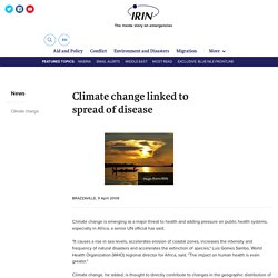 Climate change linked to spread of disease