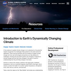 Climate Change: Vital Signs of the Planet: Engage: Changing Climate