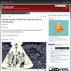 Climate change: Embed the social sciences in climate policy