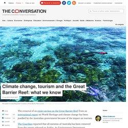 Climate change, tourism and the Great Barrier Reef: what we know