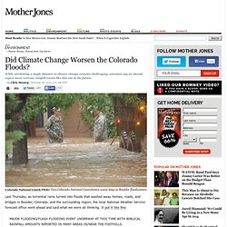 Did Climate Change Worsen the Colorado Floods?