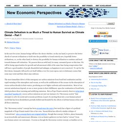 Like Climate Denial, Climate Defeatism Threatens Human Survival