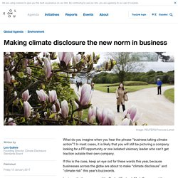 Making climate disclosure the new norm in business