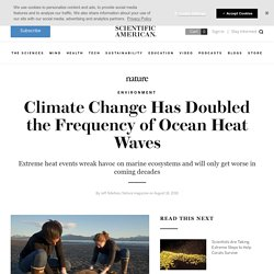 Climate Change Doubles Frequency of Ocean Heat Waves