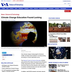 Climate Change Education Found Lacking