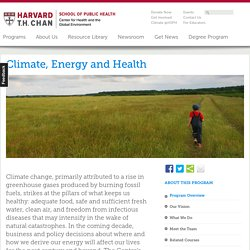 The Center for Health and the Global Environment