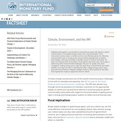 Climate, Environment, and the IMF
