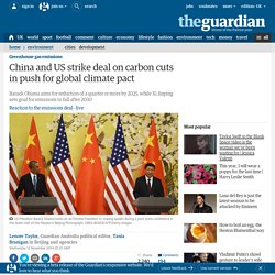 China and US strike deal on carbon cuts in push for global climate pact