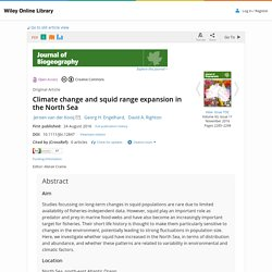 JOURNAL OF BIOGEOGRAPHY 24/08/16 Climate change and squid range expansion in the North Sea