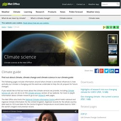 UK Met Office - Climate guide