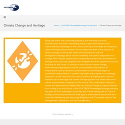 Climate Change and Heritage - US/ICOMOS Membership