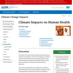 Climate Impacts on Human Health