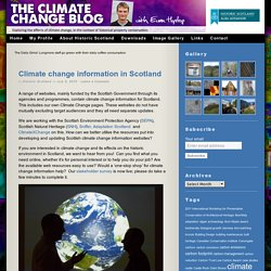 Climate change information in Scotland