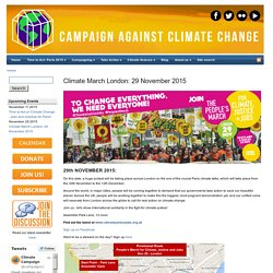 People's Climate March London