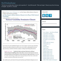 20 New Papers Affirm Modern Climate Is In Phase With Natural Variability