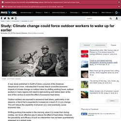 Study: Climate change could force outdoor workers to wake up far earlier