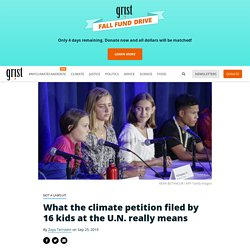 What the climate petition filed by 16 kids at the U.N. really means