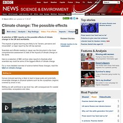 Climate change: The possible effects