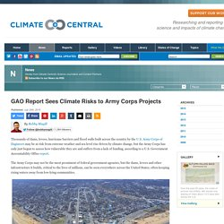 GAO Report Sees Climate Risks to Army Corps Projects
