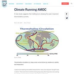 Climate Running AMOC