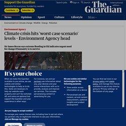 Climate crisis hits 'worst case scenario' levels – Environment Agency head