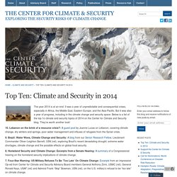Top Ten: Climate and Security in 2014 « The Center for Climate