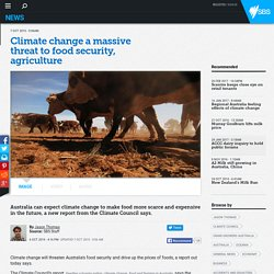 Climate change a massive threat to food security, agriculture