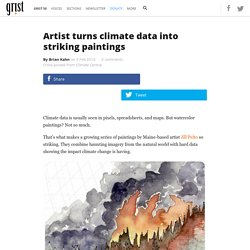 Artist turns climate data into striking paintings