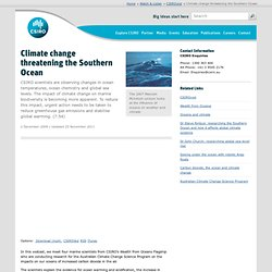 Climate change threatening the Southern Ocean