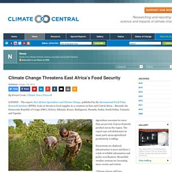 Climate Change Threatens East Africa's Food Security