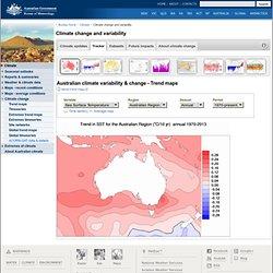 Australia - Sea surface Temperatures
