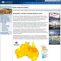 BoM - Latest Climate Trends