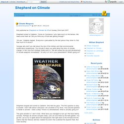 Climate Weapons - Shepherd on Climate
