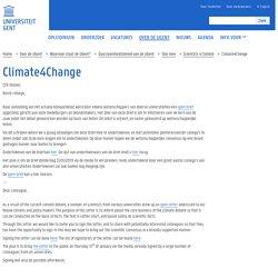 Climate4Change — Universiteit Gent