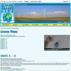 ClimateChangeLIVE - Lesson Plans