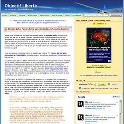 """Le ClimateGate: """"une affaire sans importance"""","""
