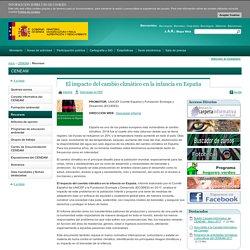 El impacto del cambio climático en la infancia en España - Recursos - CENEAM - mapama.es
