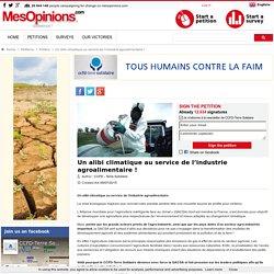 Un alibi climatique au service de l'industrie agroalimentaire !