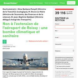 Non à l'extension de l'aéroport de Roissy : une bombe climatique et sanitaire