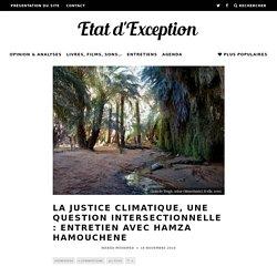 La justice climatique, une question intersectionnelle : entretien avec Hamza Hamouchene